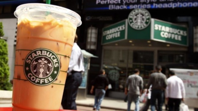 A Starbucks drink is seen on a table in New York's Times Square April 21, 2010. REUTERS/Shannon Stapleton (Source: Reuters)
