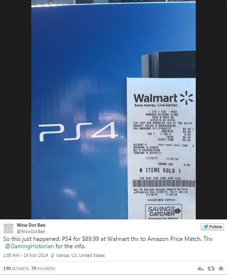 Hoax $90 PlayStation Deal at Walmart