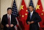U.S. President Barack Obama meets with China President Xi Jinping in a Nuclear security summit in March 2014