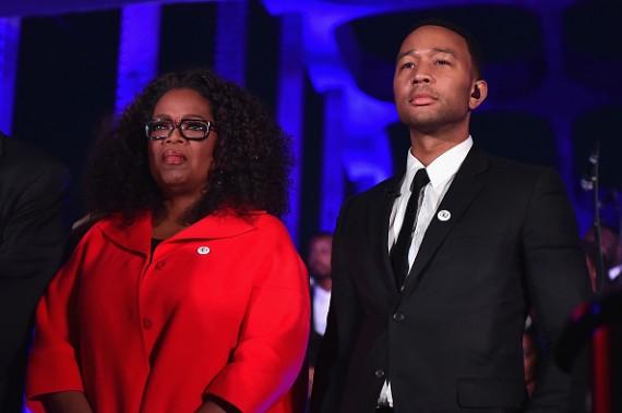 Oprah Winfrey and John Legend