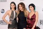 Kylie Jenner and sisters Khloe and Kendall
