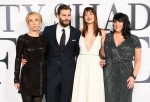 Director Sam Taylor-Johnson, actors Jamie Dornan, Dakota Johnson and author E.L. James