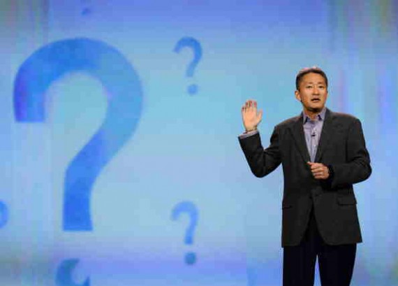 Sony CEO Kaz Hirai Delivering A Keynote Speech