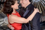 Idina Menzel and John Travolta