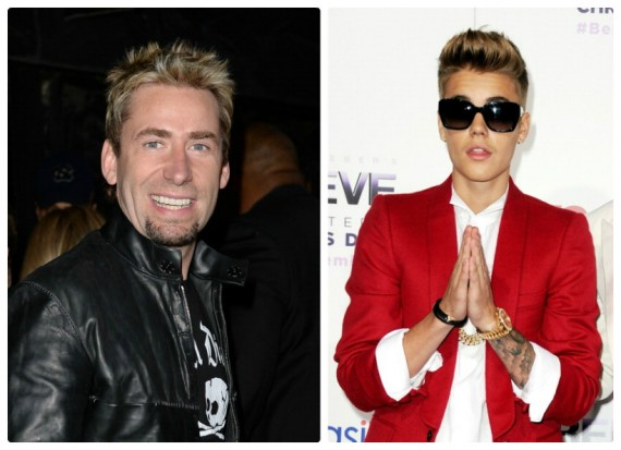 Chad Kroeger and Justin Bieber