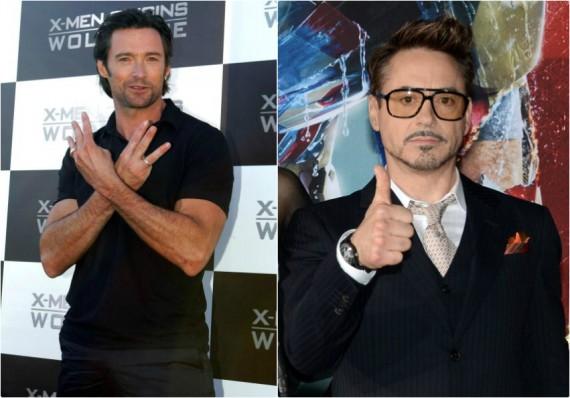 Hugh Jackman as Wolverine / Robert Downey Jr. as Iron Man