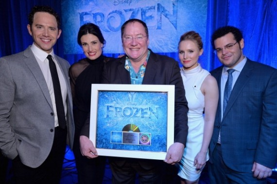 Executive producer John Lasseter and the cast of Disney's 'Frozen'