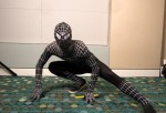 Cady Wiedenheft as Black Suit Spiderman attends Nashville Comic Con 2013