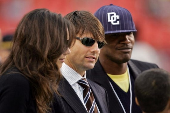 Katie Holmes, Tom Cruise, and Jamie Foxx