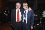 Billionaire Warren Buffett donated $2.8 billion to the Bill & Melinda Gates Foundation and four other charities to sustain his pledge of philanthrophy for the 10th straight year.