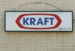CHICAGO - APRIL 19: A sign hangs on the front of Kraft Foods' fruit snacks manufacturing facility April 19, 2005 in Chicago, Illinois.