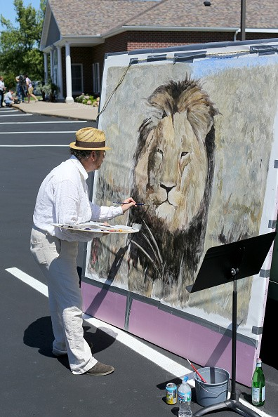 Painting of Cecil the Lion