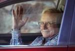 SUN VALLEY, ID - JULY 08: Warren Buffett, chairman of Berkshire Hathaway Inc., arrives for the Allen & Company Sun Valley Conference on July 8, 2014 in Sun Valley, Idaho.