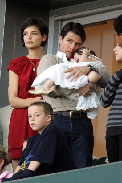 Katie Holmes, Tom Cruise, and Suri Cruise