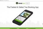 A screen shot of the GrabTaxi website