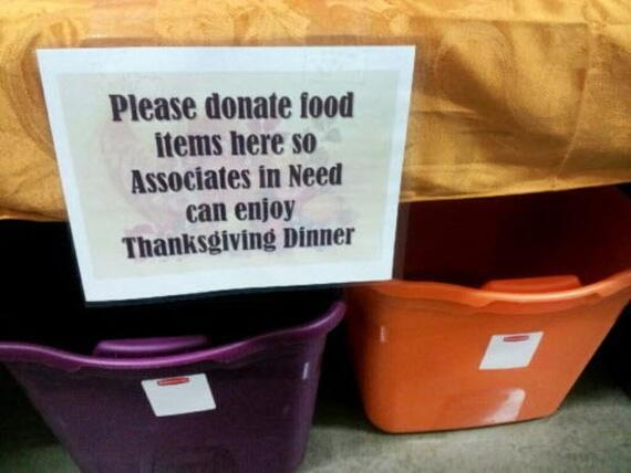 Wal-Mart Employee Food Drive