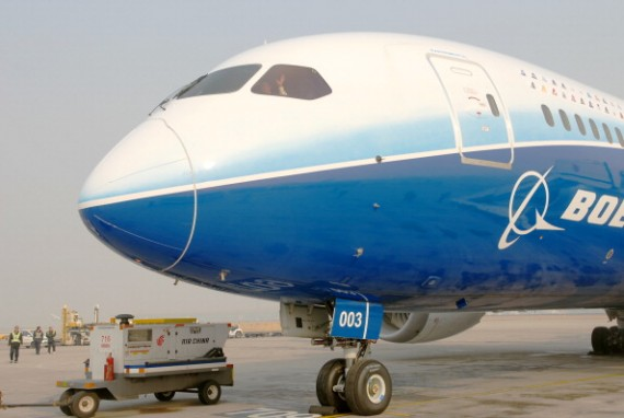 - DECEMBER 04: (CHINA OUT) A Boeing 787 Dreamliner, one of the world's largest aircraft, arrives at Beijing Capital Airport on December 4, 2011 in Beijing, China