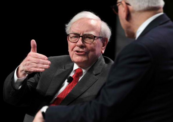 WASHINGTON, DC - JUNE 05: Warren Buffett, chairman and CEO of Berkshire Hathaway Inc. participates in a discussion during the 25th anniversary celebration dinner of the Economic Club of Washington June 5, 2012 in Washington, DC.