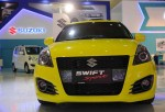 JAKARTA, INDONESIA - AUGUST 19: A Suzuki Swift Sport is displayed in The 23rd Indonesia International Motor Show (IIMS) at JI EXPO Kemayoran on August 19, 2015 in Jakarta, Indonesia. The 23rd IIMS features 30 automotive brands and more than 35 in supporti