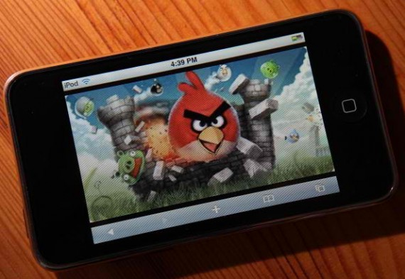 SAN ANSELMO, CA - MARCH 18: An image of the popular video game 'Angry Birds' is displayed on an iPod Touch on March 18, 2011 in San Anselmo, California