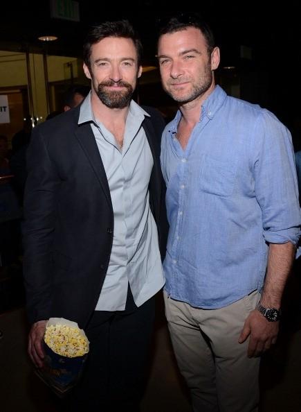 Hugh Jackman and Leiv Schreiber