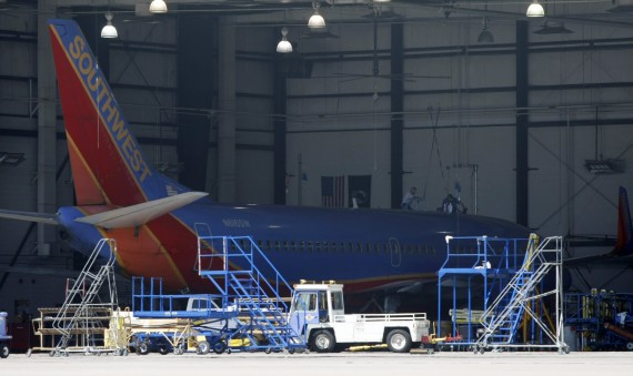 Southwest Airlines Plane At Phoenix Sky Harbor International Airport
