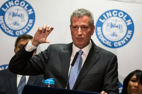 NYC Mayor Bill de Blasio at Legionnaires' disease press conference