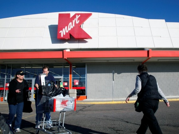 Shoppers outside the Kmart store in Broomfield