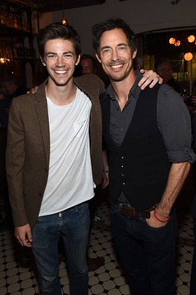 The Flash lead cast Grant Gustin and Tom Cavanagh
