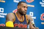 Cleveland Cavaliers star Lebron James reacts on Golden State Warriors 15-0 run