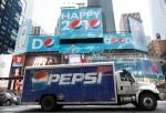 A Pepsi truck