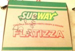 Subway Flatizza Box with words Big Mama