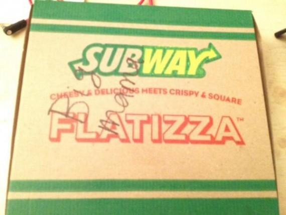 Subway Flatizza Box with words Big Mama
