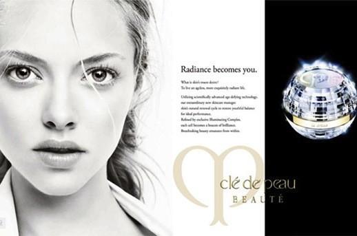Actress Amanda Seyfried in Cle de Peau Beaute Shiseido Ad