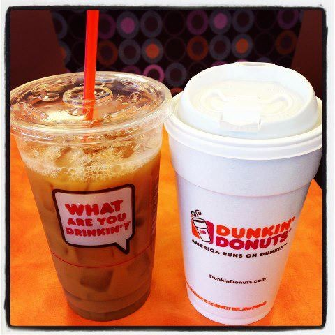 Dunkin' Donuts Cold and Hot Coffee
